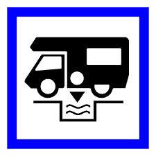 Aire de Services de camping camping car sign