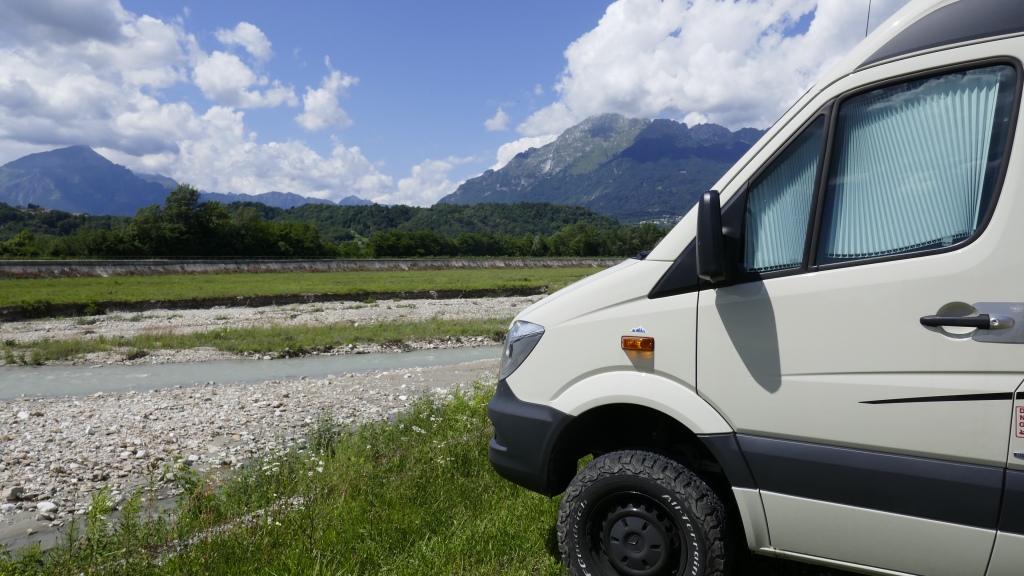 Camper Parking in the Dolomites